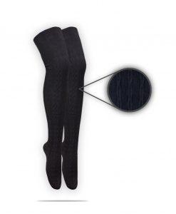 جوراب زنانه بافت مشکی
