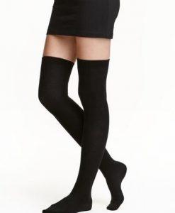 جوراب ساق بلند مشکی ساده
