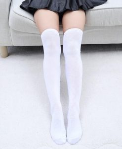 جوراب ساق بلند سفید ساده