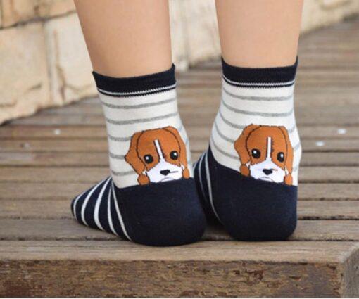 جوراب سگ قهوه ای