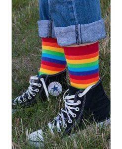 جوراب ساق کوتاه رنگین کمان