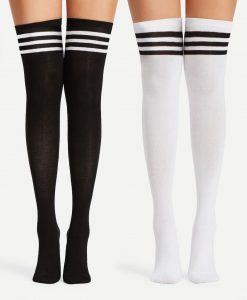 جوراب ساق بلند سه خط