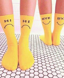 جوراب زرد های بای