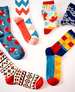 جوراب های رنگی طرح دار